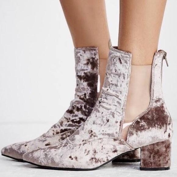 Free People Shoes Jeffrey Campbell X Velvet Booties Poshmark